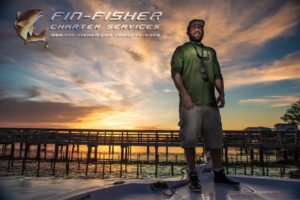 Capt Shane Britt of Fin-Fisher Inshore fishing charters Holden Beach NC